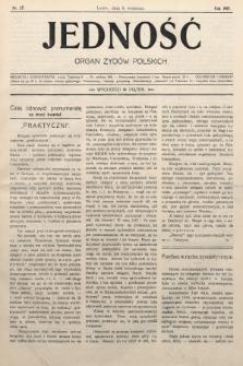 Jedność : organ żydów polskich. 1907, nr27