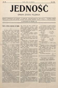 Jedność : organ żydów polskich. 1907, nr28