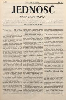 Jedność : organ żydów polskich. 1907, nr29