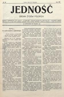 Jedność : organ żydów polskich. 1907, nr38