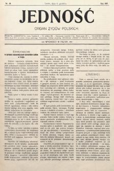 Jedność : organ żydów polskich. 1907, nr40
