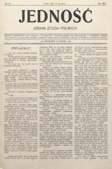 Jedność : organ żydów polskich. 1907, nr41
