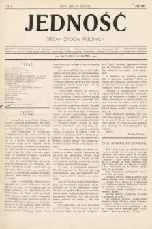 Jedność : organ żydów polskich. 1908, nr4