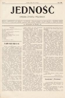 Jedność : organ żydów polskich. 1908, nr9
