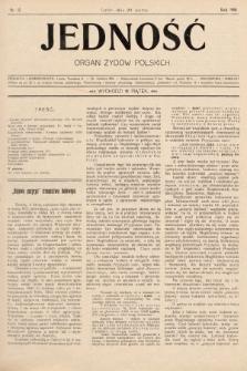 Jedność : organ żydów polskich. 1908, nr12
