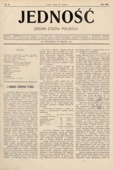 Jedność : organ żydów polskich. 1908, nr13