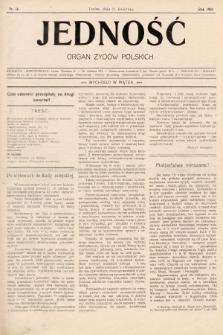 Jedność : organ żydów polskich. 1908, nr14