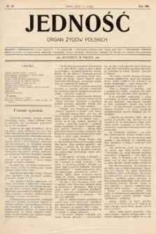 Jedność : organ żydów polskich. 1908, nr20