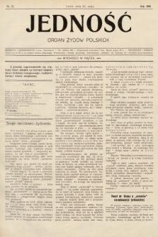 Jedność : organ żydów polskich. 1908, nr21