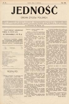 Jedność : organ żydów polskich. 1908, nr23