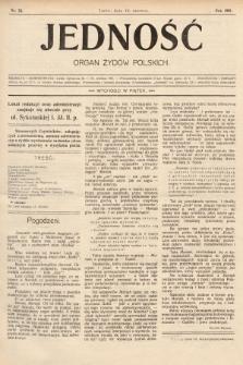 Jedność : organ żydów polskich. 1908, nr24