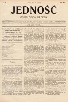 Jedność : organ żydów polskich. 1908, nr25