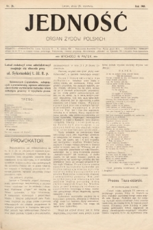 Jedność : organ żydów polskich. 1908, nr26