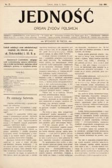Jedność : organ żydów polskich. 1908, nr27