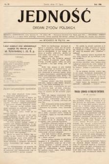 Jedność : organ żydów polskich. 1908, nr29