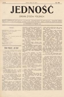 Jedność : organ żydów polskich. 1908, nr30