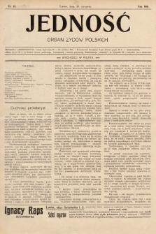 Jedność : organ żydów polskich. 1908, nr35