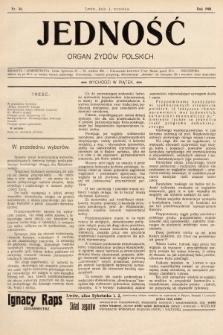 Jedność : organ żydów polskich. 1908, nr36