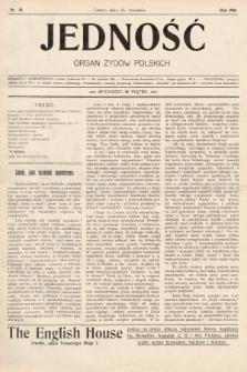 Jedność : organ żydów polskich. 1908, nr39