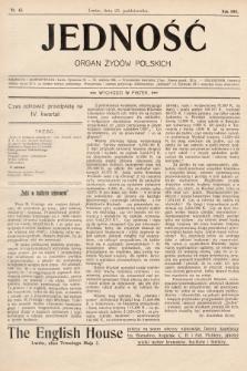 Jedność : organ żydów polskich. 1908, nr43