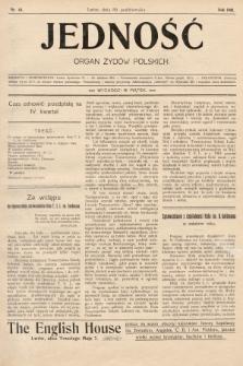 Jedność : organ żydów polskich. 1908, nr44