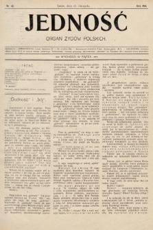 Jedność : organ żydów polskich. 1908, nr48