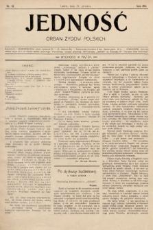 Jedność : organ żydów polskich. 1908, nr52