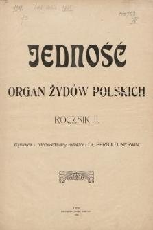Jedność : organ żydów polskich. 1908 [całość]