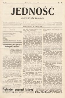 Jedność : organ żydów polskich. 1910, nr10