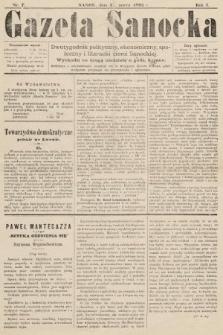 Gazeta Sanocka : dwutygodnik polityczny, ekonomiczny, społeczny i literacki ziemi Sanockiej. 1895, nr7
