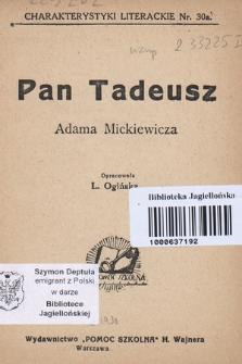 Pan Tadeusz Adama Mickiewicza