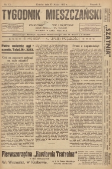 Tygodnik Mieszczański : czasopismo społeczne i polityczne : organ mieszczaństwa polskiego. 1912, nr12