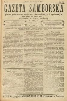 Gazeta Samborska : pismo poświęcone sprawom ekonomicznym i społecznym okręgu: Sambor, Stary Sambor, Turka. 1907, nr46