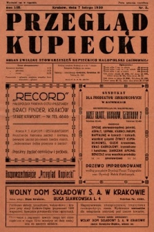 Przegląd Kupiecki : organ Związku Stowarzyszeń Kupieckich Małopolski Zachodniej. 1930, nr5