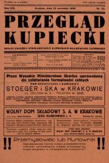Przegląd Kupiecki : organ Związku Stowarzyszeń Kupieckich Małopolski Zachodniej. 1930, nr35