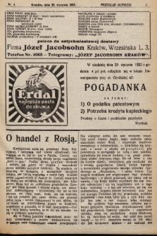 Przegląd Kupiecki : [organ Krakowskiego Stowarzyszenia Kupców]. 1922, nr4