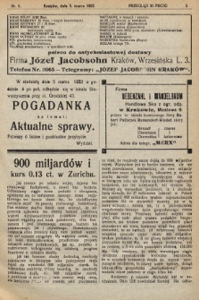 Przegląd Kupiecki : [organ Krakowskiego Stowarzyszenia Kupców]. 1922, nr9