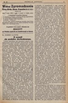 Przegląd Kupiecki : [organ Krakowskiego Stowarzyszenia Kupców. 1922], nr17