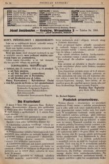 Przegląd Kupiecki : [organ Krakowskiego Stowarzyszenia Kupców. 1922], nr24