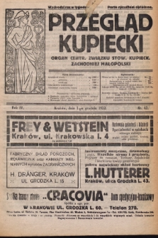 Przegląd Kupiecki : organ Centr. Związku Stow. Kupieck. Zachodniej Małopolski. 1922, nr42