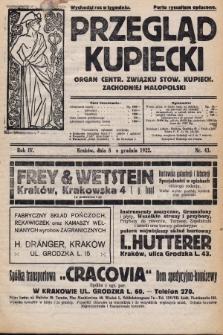 Przegląd Kupiecki : organ Centr. Związku Stow. Kupieck. Zachodniej Małopolski. 1922, nr43
