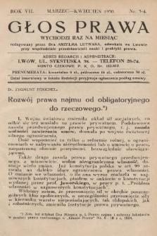 Głos Prawa : wychodzi raz na miesiąc. 1930, nr3
