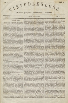 Niepodległość : dziennik polityczny, ekonomiczny i naukowy. 1863, nr2