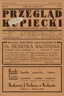 Przegląd Kupiecki : organ Związku Stowarzyszeń Kupieckich Małopolski Zachodniej. 1932, nr18