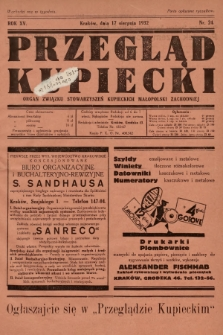 Przegląd Kupiecki : organ Związku Stowarzyszeń Kupieckich Małopolski Zachodniej. 1932, nr24