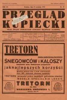 Przegląd Kupiecki : organ Związku Stowarzyszeń Kupieckich Małopolski Zachodniej. 1932, nr27