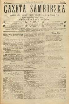 Gazeta Samborska : pismo poświęcone sprawom ekonomicznym i społecznym okręgu: Sambor, Stary Sambor, Turka. 1907, nr52