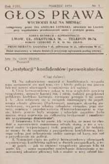 Głos Prawa : wychodzi raz na miesiąc. 1931, nr3