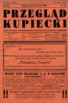 Przegląd Kupiecki : organ Związku Stowarzyszeń Kupieckich Małopolski Zachodniej. 1929, nr25