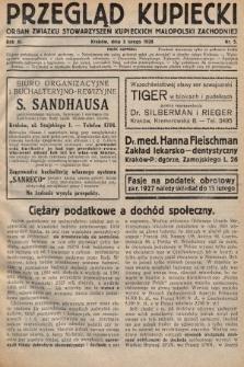 Przegląd Kupiecki : organ Związku Stowarzyszeń Kupieckich Małopolski Zachodniej. 1928, nr5